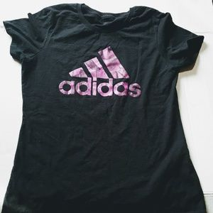 Adidas Size medium Black & Pink Tee